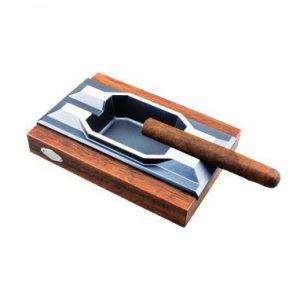 cenicero base madera